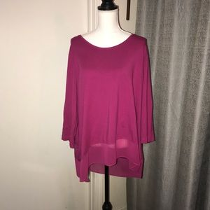 NWOT Westbound Plus Size Pink 3X Top